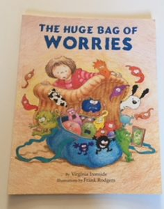 Front cover of The Huge Bag of Worries, book to combat SATs stress.