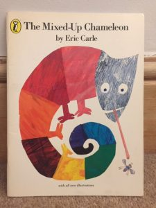 Front cover of The Mixed Up Chameleon by Eric Carle