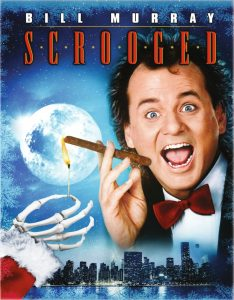 Christmas film poster of Scrooged